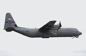 Rhode Island Air National Guard - Image: C 130J 143d AW taking off from Quonset Point 2009