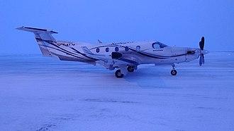 North Star Air - Pilatus PC12 of North Star Air at Cambridge Bay Airport