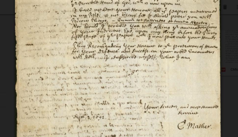 C. Mather dated signature