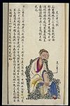 C19 Chinese MS moxibustion point chart; Zu san li Wellcome L0039488.jpg