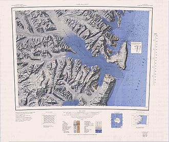 Cape Hallett - Topographic map of the Cape Hallett area