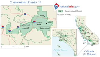 California's 32nd congressional district special election, 2009 - Image: CA 32nd