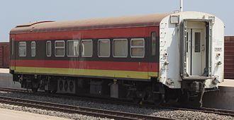 Rail transport in Angola - Passenger car at Malanje railway station