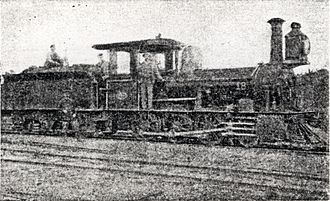 CGR 1st Class 2-6-0 1876 BP - CCR 1st Class engine with no. 18 aft of the smokebx
