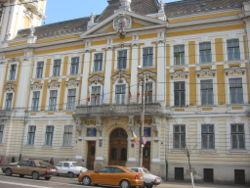 The Cluj County Prefecture building of the interwar period, currently the Cluj-Napoca city hall.