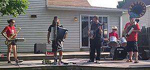 """The Chardon Polka Band - Chardon Polka Band at """"Old Style Beer"""" Video Shoot"""