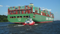 CSCL Venus on the Elbe with Destination Hamburg - Photo of stern.png