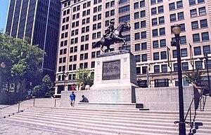 Caesar Rodney - Caesar Rodney statue on Rodney Square.
