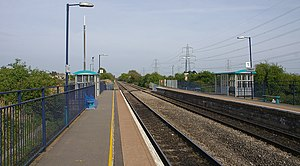 Caldicot railway station - Looking east towards Gloucester