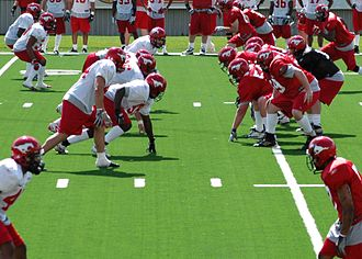Line of scrimmage - Canadian football line of scrimmage, prior to a play