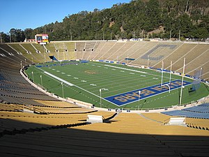 California Memorial Stadium - California Memorial Stadium from the southwest corner in January 2008.