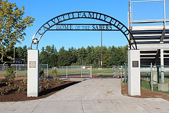 Souhegan High School - Calvetti Family Field entrance