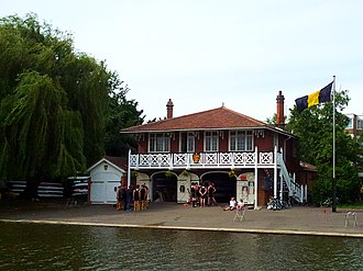 Clare Boat Club - Image: Cambridge boathouses Clare (2)