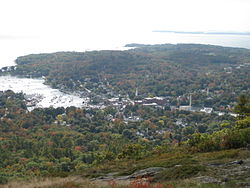Camden from the summit of Mount Battie