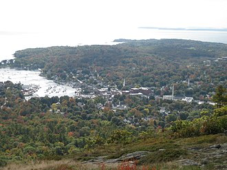 Camden, Maine - Camden from the summit of Mount Battie