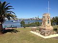 Cameron Rocks Reserve and the War Memorial.JPG
