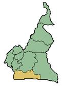 Provincia Sur de Camerún donde Lolodorf se localiza.