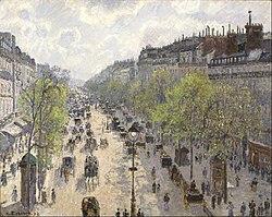 Camille Pissarro: Le Boulevard de Montmartre, Matinée de Printemps