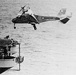Canadair CL-84 Dynavert landing on USS Guam (LPH-9) in 1973.jpg