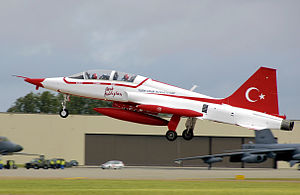 Turkish Stars - Image: Canadair NF 5B of the Turkish Stars, 2008 Royal International Air Tattoo