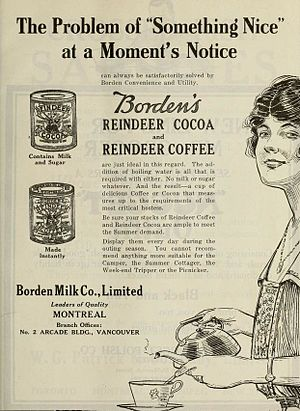 Borden (company) - 1918 Borden advertisement