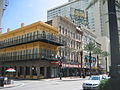 Canal St NOLA CBD Sept 2009 Exchange Alley Popeyes Palace Cafe.JPG