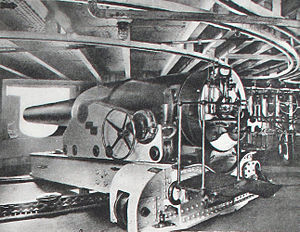Central battery ship - 24 cm gun model 1884 in an ironclad