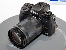 Canon EOS M5 front-left 2017 CP+.jpg