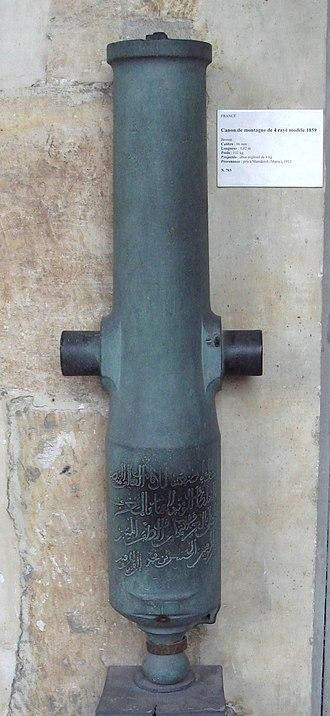 La Hitte system - Image: Canon de montagne de 4 modele 1859