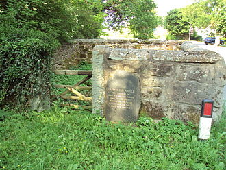 Animal pound - Capenhurst pinfold, Cheshire. A pinfold has existed on this site since the 10th century.