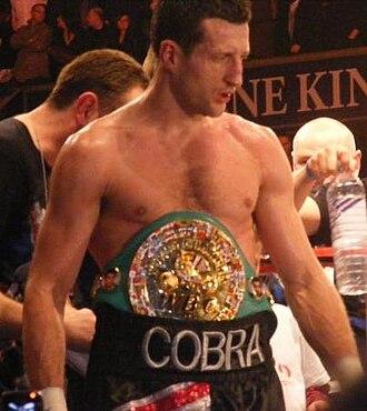 Carl Froch - Froch wearing the WBC title in 2009