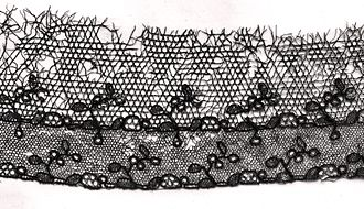 Tulle (netting) - Black lace and tulle