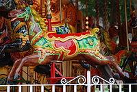 Horse on Carousel, Princes Street Gardens, Edi...