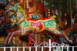 Detail of carousel horse, Edinburgh