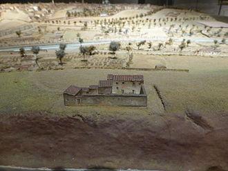 Quinta del Sordo - Image: Casa de la Quinta de Goya, o Quinta del Sordo, desde atrás, en el Modelo de Madrid de 1828 1830