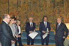 Il cast de La grande bellezza ricevuto al Quirinale da Giorgio Napolitano
