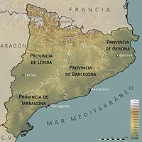 Cataluña dividida en provincias