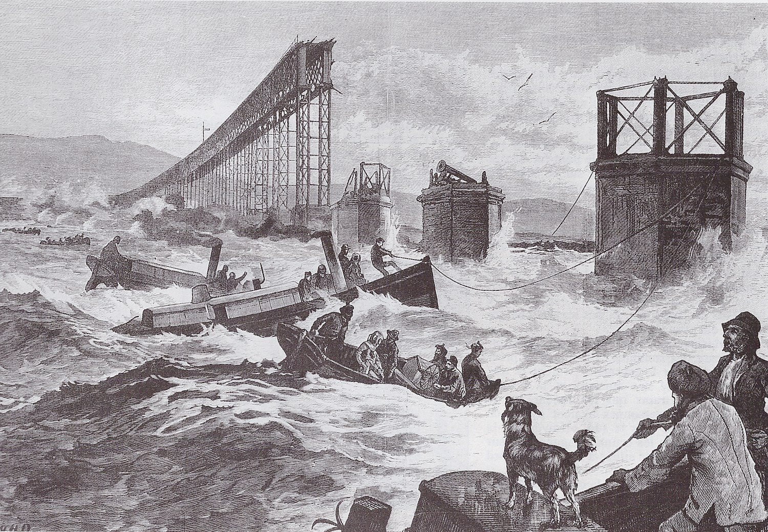 Catastrophe du pont sur le Tay - 1879 - Illustration.jpg