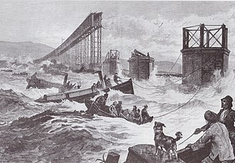 Tay Bridge disaster - A contemporary illustration