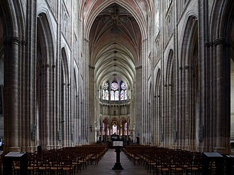 Auxerre Cathedral - The nave of Auxerre Cathedral