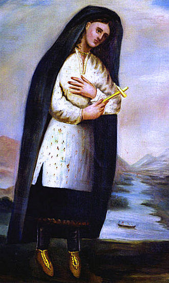 Kateri Tekakwitha - Only known portrait from life of Catherine Tekakwitha, c. 1690, by Father Chauchetière