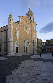 Lucera Cathedral (Santa Maria Della Vittoria), Lucera, Italy Stock ...