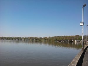 Cedar Lake, Indiana - Cedar Lake, looking west