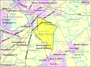 Chesterfield Township, New Jersey - Image: Census Bureau map of Chesterfield Township, New Jersey