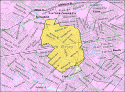 Census Bureau map of Cranford, New Jersey