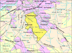 Census Bureau map of Gloucester Township, New Jersey