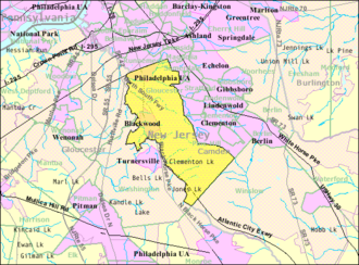 Gloucester Township, New Jersey - Image: Census Bureau map of Gloucester Township, New Jersey