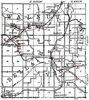 Numa Iowa Wikipedia - Map of iowa towns