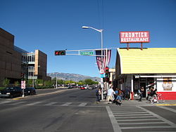 Central Avenue at the Frontier Restaurant, Albuquerque NM.jpg