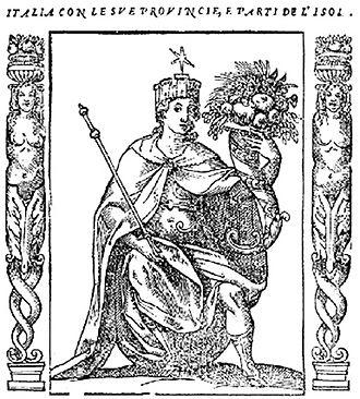 Italia turrita - Italia Turrita (1603) by Cesare Ripa
